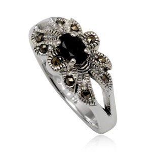 anillo-plata-negro-zafiro-marquesitas