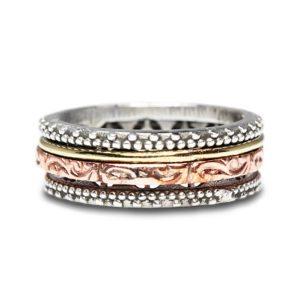 anillos-superpuestos-plata-rosa-dorado-movibles