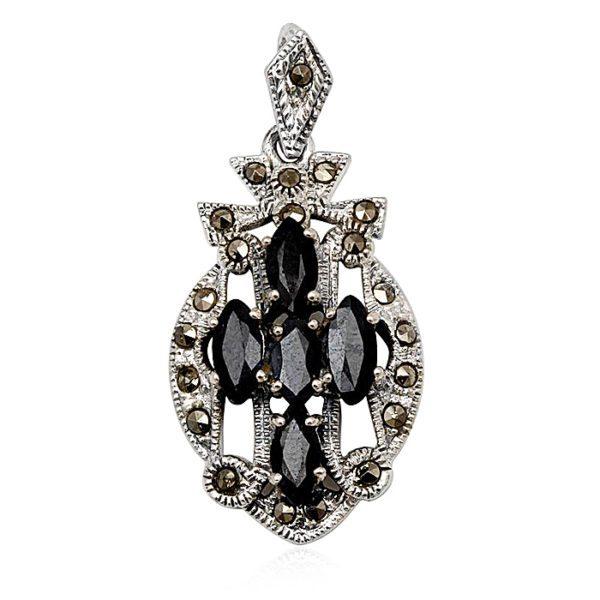 colgante-zafiros-marquesitas-plata-negro