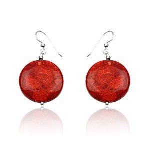 pendientes-bolas-rojo-coral