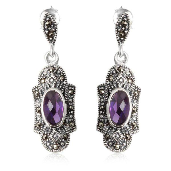 pendientes-plata-amatista-violeta