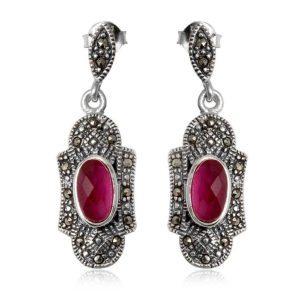 pendientes-plata-rosa-zafiro-marquesitas