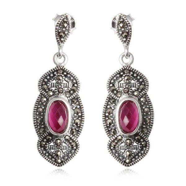 pendientes-plata-zafiro-rosa