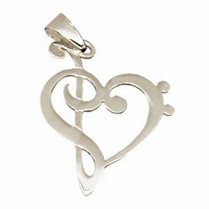 colgante-plata-nota musical-corazon