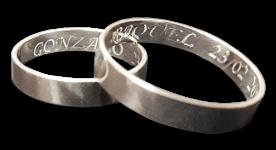 anillos plata personalizados
